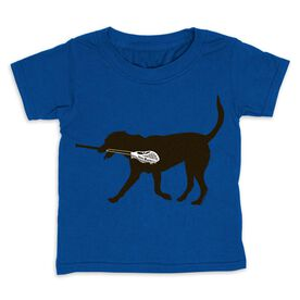 Guys Lacrosse Toddler Short Sleeve Tee - Max the Lax Dog
