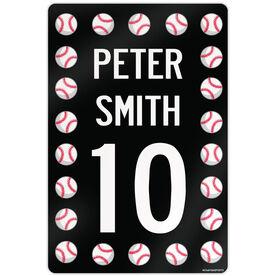 "Baseball Aluminum Room Sign Personalized Baseball Speed Sign (18"" X 12"")"