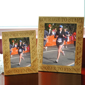 Bamboo Engraved Picture Frame Courage To Start