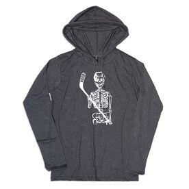 Men's Hockey Lightweight Hoodie - Hockey Skeleton
