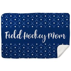 Field Hockey Sherpa Fleece Blanket - Mom Stripe