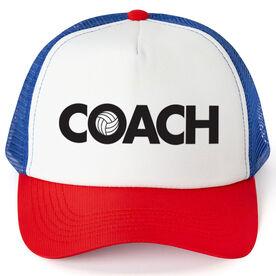 Volleyball Trucker Hat - Coach