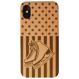 Figure Skating Engraved Wood IPhone® Case - USA Figure Skating