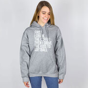 Softball Hooded Sweatshirt - Then I Drive The Kids To Softball