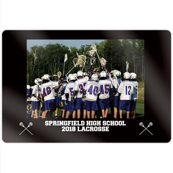 """Guys Lacrosse 18"""" X 12"""" Aluminum Room Sign - Team Photo"""
