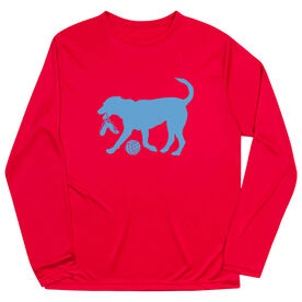 Volleyball Long Sleeve Performance Tee - Holly The Volleyball Dog