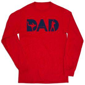 Baseball Tshirt Long Sleeve - Baseball Dad Silhouette
