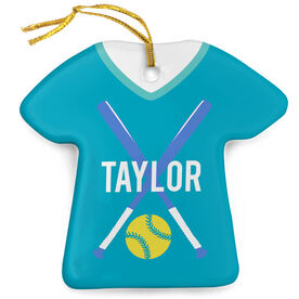 Softball Porcelain Ornament That's My Jersey