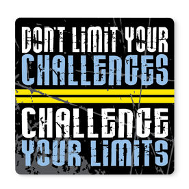 """Running 12"""" X 12"""" Removable Wall Tile - Don't Limit Your Challenges"""