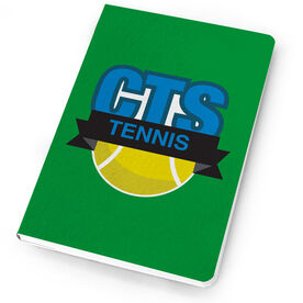 Tennis Notebook Custom Team Logo