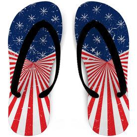 Softball Flip Flops American Pride