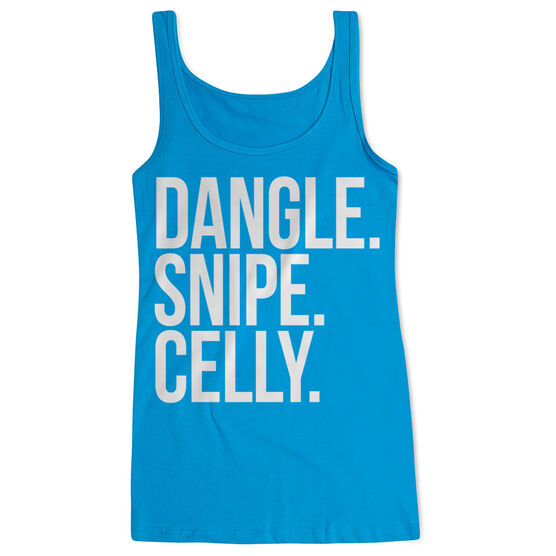 Hockey Women's Athletic Tank Top - Dangle Snipe Celly Words