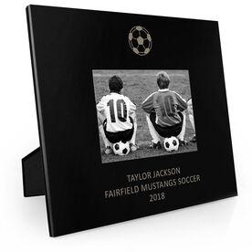 Soccer Engraved Picture Frame - Soccer Ball