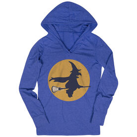 Women's Lacrosse Lightweight Performance Hoodie Witch Riding Lacrosse Stick