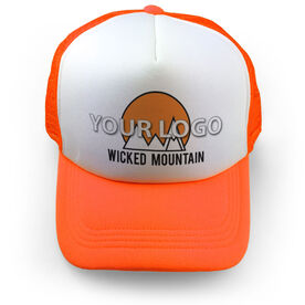 Skiing Trucker Hat Custom Team Logo