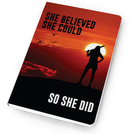 Softball Notebook She Believed She Could So She Did