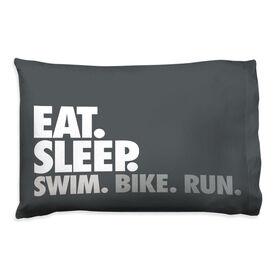 Triathlon Pillowcase - Eat. Sleep. Swim. Bike. Run