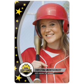 "Softball 18"" X 12"" Aluminum Room Sign - Player Photo With Logo"