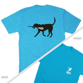Guys Lacrosse Short Sleeve T-Shirt - Max The Lax Dog (Logo Collection)