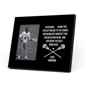 Guys Lacrosse Photo Frame - Dear Mom Heart
