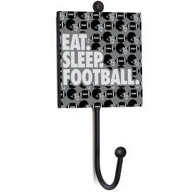Football Medal Hook - Eat. Sleep. Football.