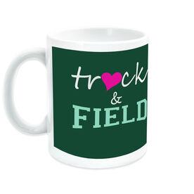 Track & Field Coffee Mug Heart