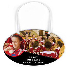 Volleyball Oval Sign - Class Of Team and Player Photo