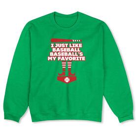 Baseball Crew Neck Sweatshirt (Special Edition) - Baseball's My Favorite