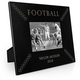 Football Engraved Picture Frame - Football Stitches
