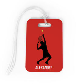 Tennis Bag/Luggage Tag - Personalized Guy Tennis Player