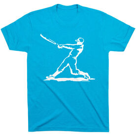 Baseball Tshirt Short Sleeve Baseball Player