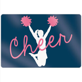 "Cheerleading 18"" X 12"" Aluminum Room Sign - Cheer Girl"