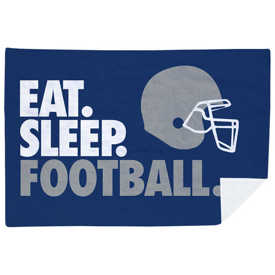 Football Premium Blanket - Eat. Sleep. Football. Horizontal