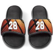 Basketball Repwell® Slide Sandals - Custom Basketball Number