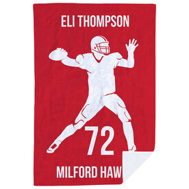 Football Premium Blanket - Personalized Quarterback