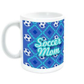 Soccer Coffee Mug Mom With Ball Pattern