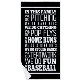 Baseball Premium Beach Towel - We Do Baseball