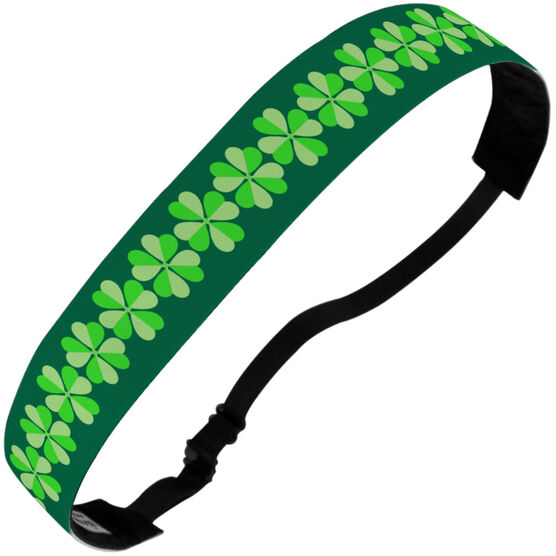 Athletic Juliband No-Slip Headband - Big Clover Pattern