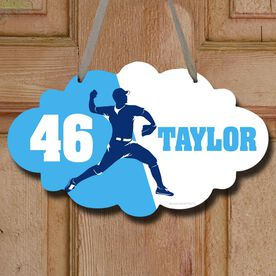 Baseball Cloud Sign Personalized Pitcher Silhouette
