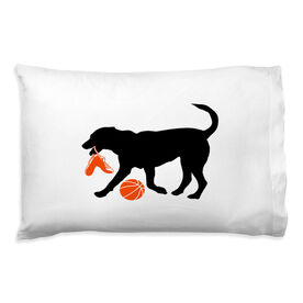 Basketball Pillowcase - Baxter The Basketball Dog
