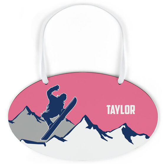 Snowboarding Oval Sign - Personalized Airborne