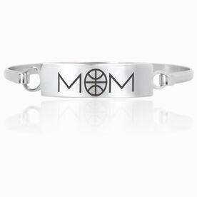 Basketball Engraved Clasp Bracelet - Mom