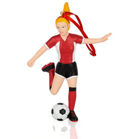 CTS - Soccer Player Resin Figure Ornament (Blonde Female)