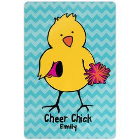 "Cheerleading 18"" X 12"" Aluminum Room Sign Cheer Chick Chevron"