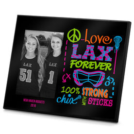 Lacrosse Personalized Photo Frame Peace Love LAX Forever