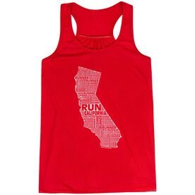 Flowy Racerback Tank Top - California
