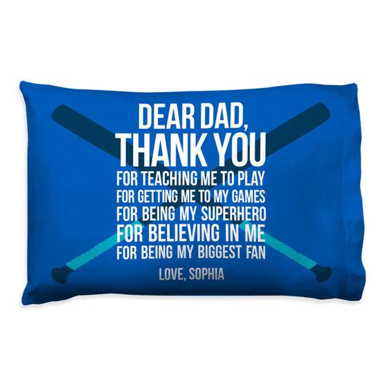 Softball Pillowcase - Dear Dad