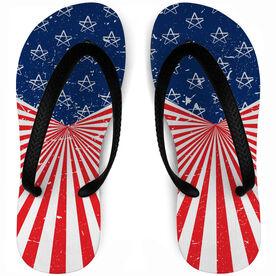 Baseball Flip Flops American Pride