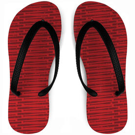 Baseball Flip Flops Distressed Bats