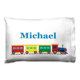 Personalized Pillowcase - Train